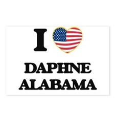 I love Daphne Alabama USA Postcards (Package of 8)