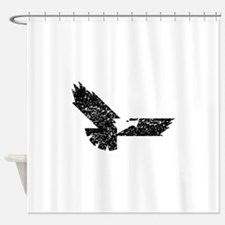 Distressed Eagle Silhouette Shower Curtain