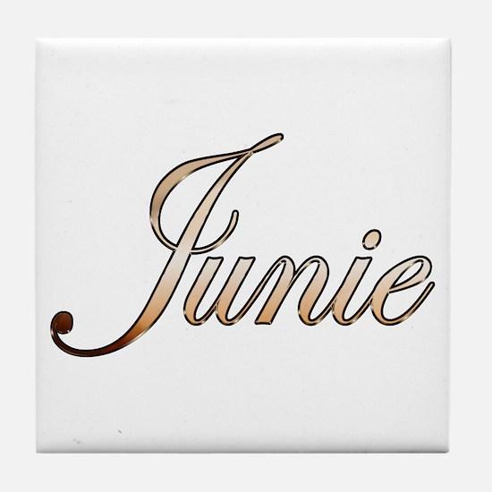 Gold Junie Tile Coaster