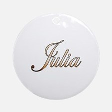 Gold Julia Round Ornament