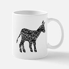 Distressed Mule Silhouette Mugs