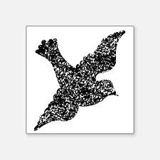 Distressed Dove Silhouette Sticker