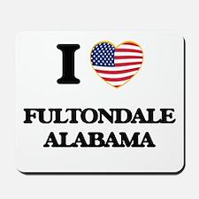 I love Fultondale Alabama USA Design Mousepad