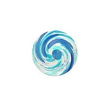 Blue Wormhole Mini Button