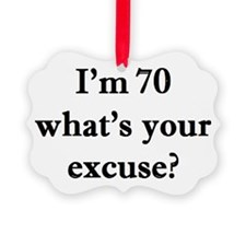 70 your excuse 2 Ornament