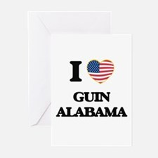 I love Guin Alabama USA Design Greeting Cards