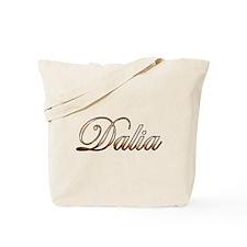 Gold Dalia Tote Bag