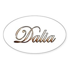 Gold Dalia Decal