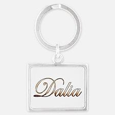 Gold Dalia Keychains