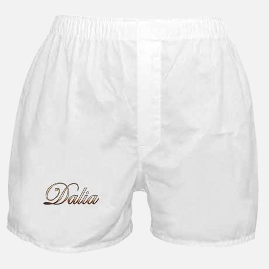 Gold Dalia Boxer Shorts