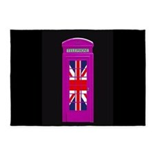Pink! London phone box 5'x7'Area Rug