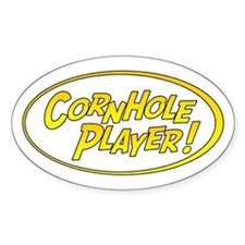 Cornhole Player Oval Decal