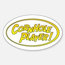 Cornhole Player Oval Decal
