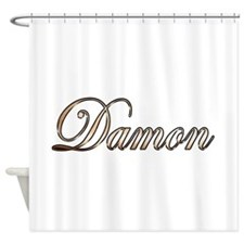 Gold Damon Shower Curtain