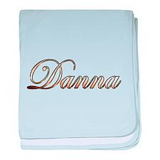Gold Danna baby blanket