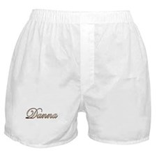Gold Danna Boxer Shorts
