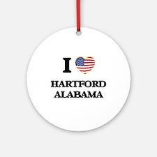 I love Hartford Alabama USA Desig Ornament (Round)