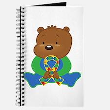 Autism Puzzle Ribbon Bear Journal