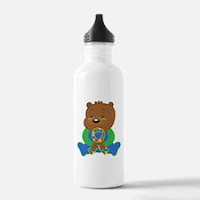 Autism Puzzle Ribbon Bear Water Bottle
