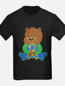 Autism Puzzle Ribbon Bear T-Shirt