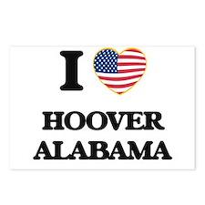 I love Hoover Alabama USA Postcards (Package of 8)