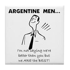 Argentine Men Tile Coaster
