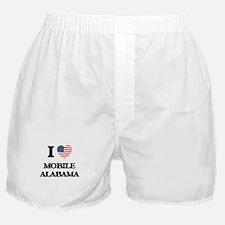 I love Mobile Alabama USA Design Boxer Shorts