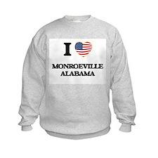 I love Monroeville Alabama USA Des Sweatshirt