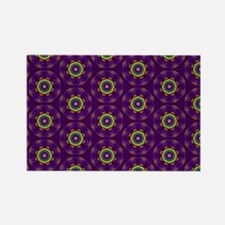 Diamond Purple Stars Rectangle Magnet
