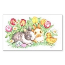 Bunnies and Chick Decal