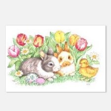 Bunnies and Chick Postcards (Package of 8)