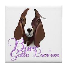 Boer Goat Gotta Love 'em Tile Coaster