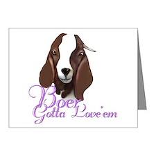 Boer Goat Gotta Love 'em Note Cards (Pk of 10)