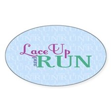 Lace Up and Run Decal