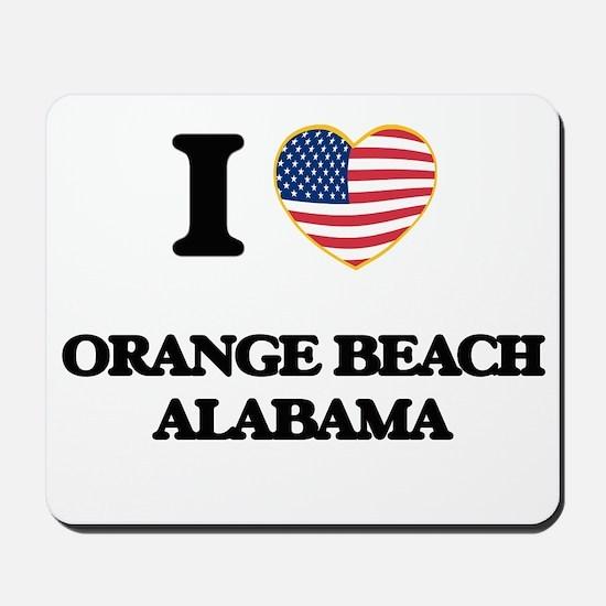 I love Orange Beach Alabama USA Design Mousepad