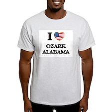 I love Ozark Alabama USA Design T-Shirt