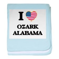 I love Ozark Alabama USA Design baby blanket