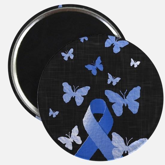 Blue Awareness Ribbon Magnets