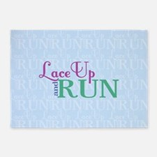 Lace Up and Run 5'x7'Area Rug