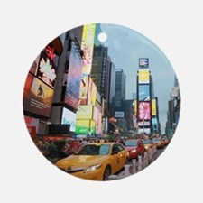 Times Square New York City Pro Ph Ornament (Round)