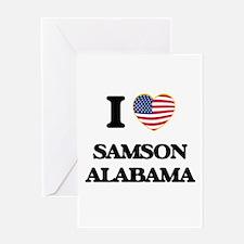I love Samson Alabama USA Design Greeting Cards