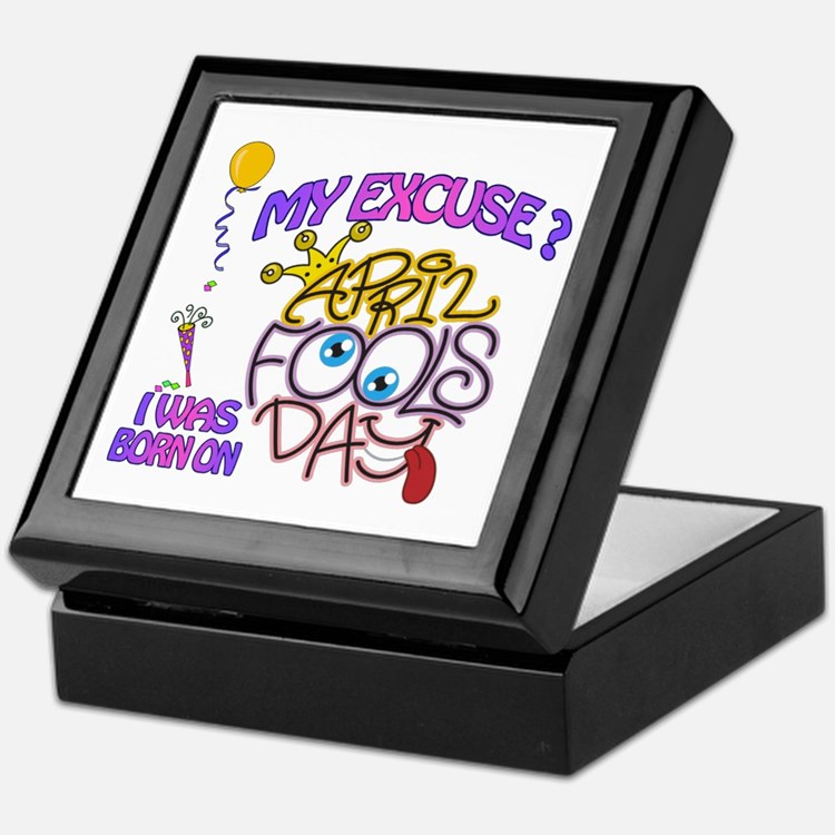 April Fool Birthday Woman Keepsake Box