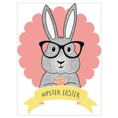Hipster Easter Canvas Art