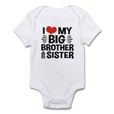 I Love My Big Brother and Sister Infant Bodysuit