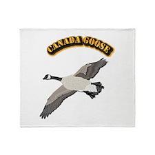 Canada goose-w Text Throw Blanket