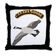 Canada goose-w Text Throw Pillow