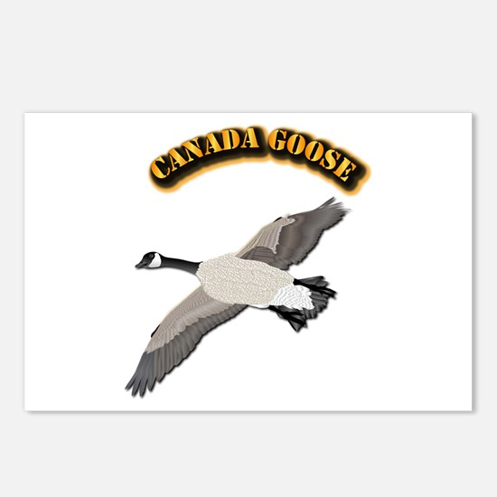 Canada goose-w Text Postcards (Package of 8)