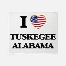 I love Tuskegee Alabama USA Design Throw Blanket