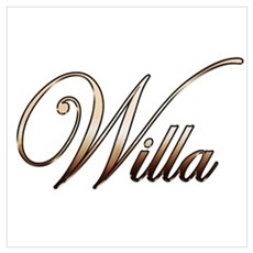 Gold Willa Canvas Art