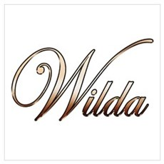 Gold Wilda Canvas Art